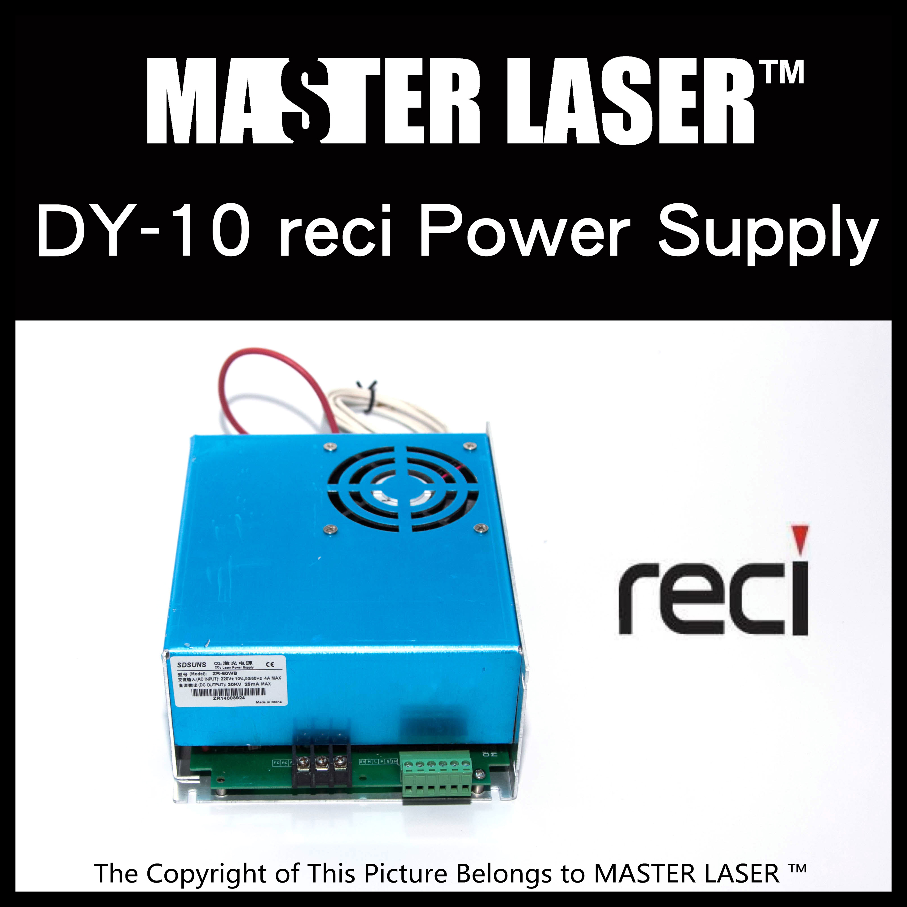 Reci DY10 Laser Power Supply for  Laser Tubes 80W Reci power transformer high voltage for reci laser power supply dy20