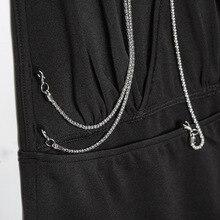 FREE SHIPPING !! V Neck Halter Open Low Back Metal Chain Dress JKP1039