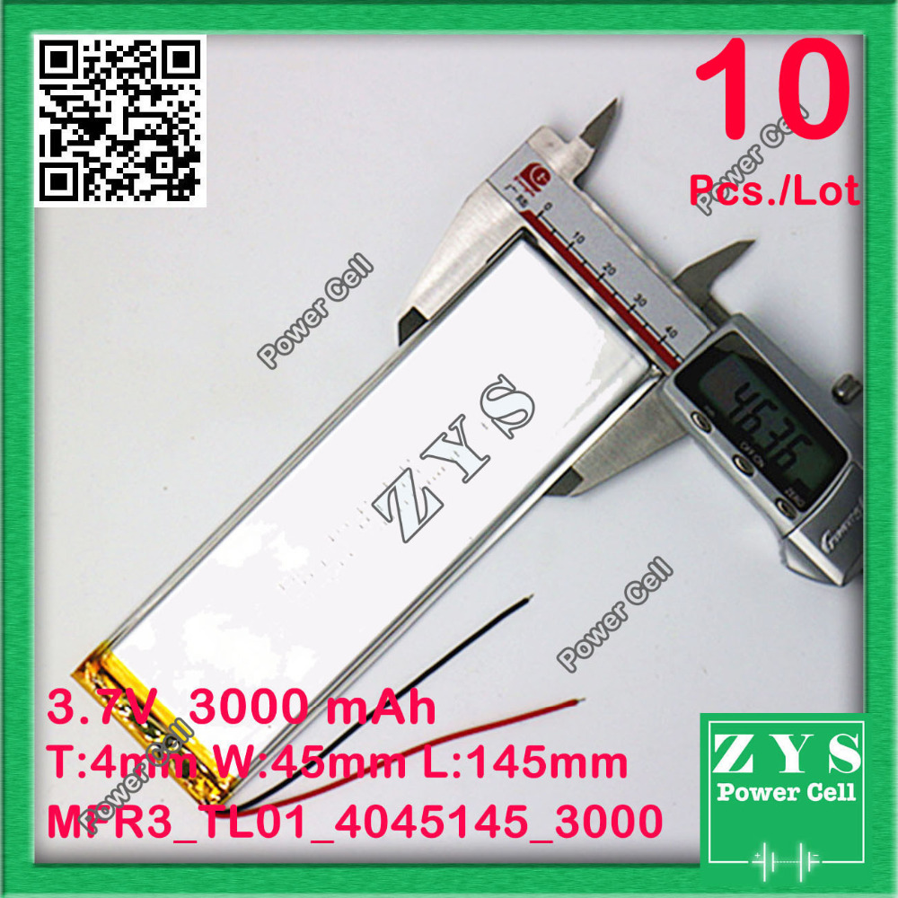 Safety Packing (Level4) 10pcs battery for tablet 3000MAH 4045145 Lithium polymer Tablet Battery with protection board For Tablet 7 inch teclast p76ti tablets 456698 lithium polymer battery protection board for pda tablet computer digital products