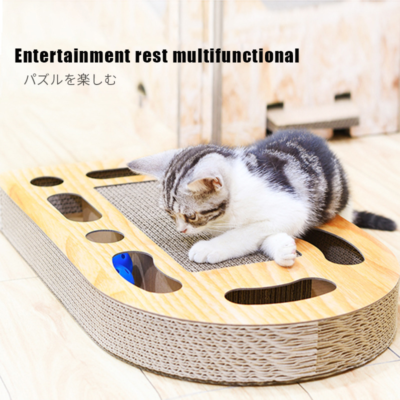 Combination Toys For Cats Scratch Board Funny Cats Toy Balls Toys For Cat Scratching Post Pad For Pet Intelligence Develop Play