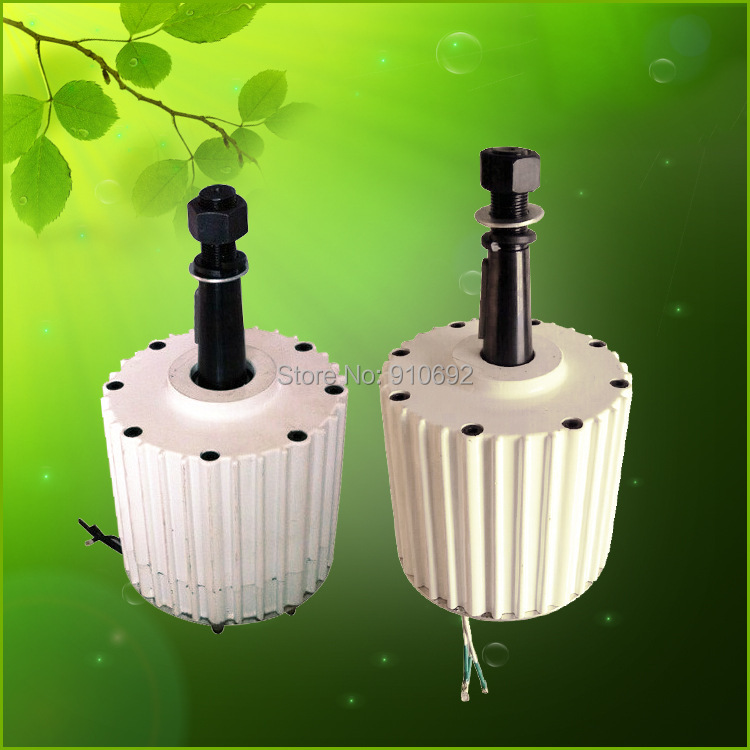 Flyt faible couple de démarrage 2kw AC 96 V générateur d'aimant permanent de terre rare 48 v 120 v