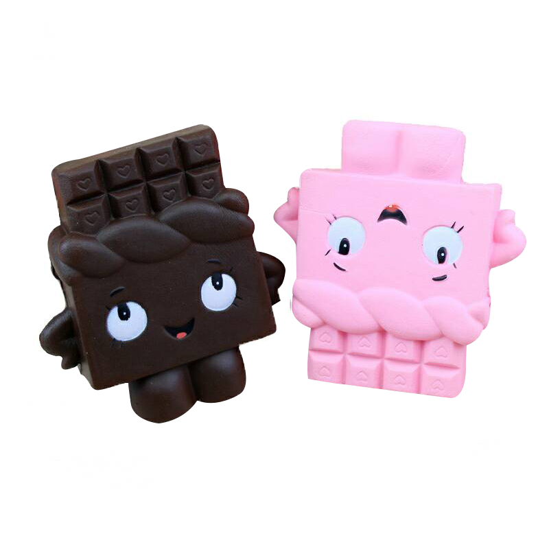 1 PC 12CM Kawaii Soft Squishy Chocolate Toy Phone Strap Slow Rising Relieves Stress Anxiety Cabinet Decor Kids Gift Keychain