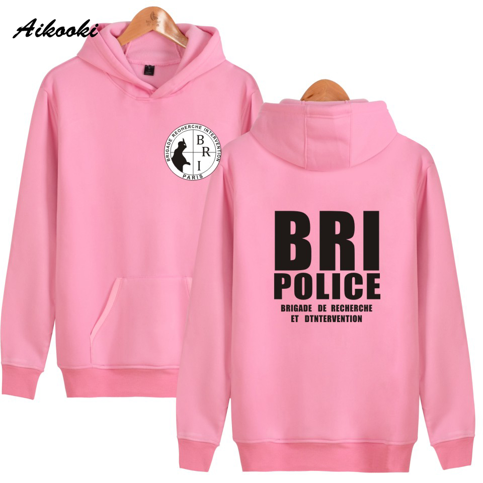 Hoodies & Sweatshirts Disciplined Aikooki New Bri Police Gign Gendarmerie Men Hoodies Popular Hip-hop Kpop Men Hooded Sweatshirt Leisure Female Wenter Cap Clothes