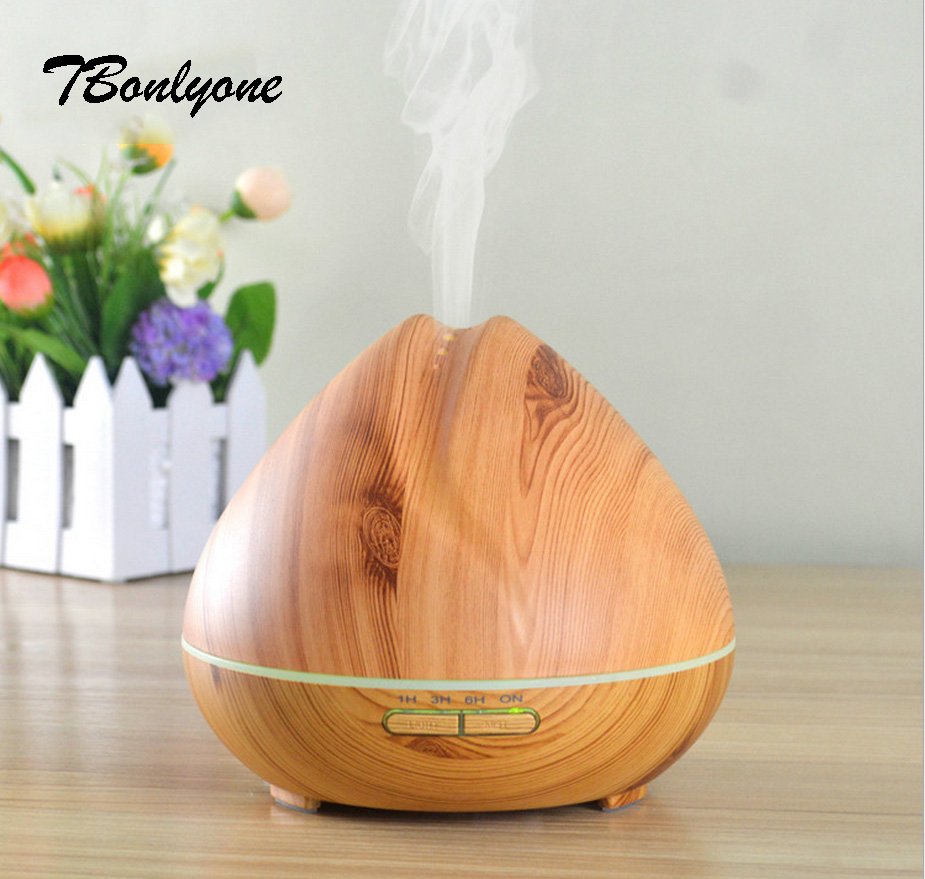 TBonlyone Light Wood 400ML Ultrasonic Mist Maker Air Humidifier Essential Oil Diffuser Aroma Diffuser Aromatherapy Household tbonlyone 100ml amazon hot sell air humidifier aroma diffuser ultrasonic aromatherapy essential oil diffuser with colorful light