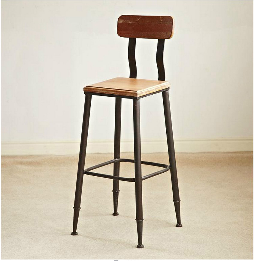American Village Loft Retro Wood Chair Back Dining Chairs Fashion Casual  Cafe Tables And Chairs Furniture In Shampoo Chairs From Furniture On  Aliexpress.com ...