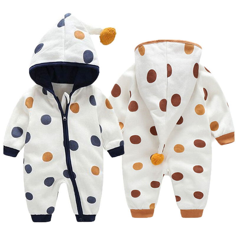 Fashion Brand Winter Warm Newborn Baby Clothes   Romper   Boys Girls Cute Hooded Jumpsuit Outfits Set Cotton Sweet Soft Clothing