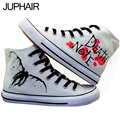 JUP Men Males Adult Unisex Lover Cartoon Death Note Cat Pink Snow White Princess Castle Rabbit Hand Painted Canvas Fashion Shoes