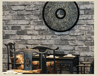 Deep Embossed 3D Brick Wall Paper Modern Vintage Brick Stone Pattern Paper Wallpaper Roll For