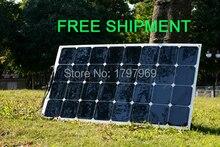 Solarparts 1 100W flexible PV solar panel for solar powered energy fishing boats fence camara for12V