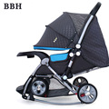 BBH Cochecito de Bebé Mecedora 5 Regalos Gratis 3 En 1 Plegable Carro Cochecito Portable Cochecito Recién Nacido Infantil Buggy 4 ruedas