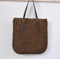 40 CM balas de paja exporta Europa y los Estados Unidos de aduanas españa bolso femenino marca hebilla del cinturón bolsa de bolsa de playa femenino A2333