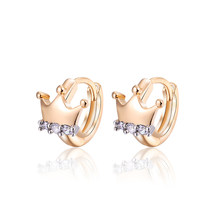 Brand Gold Color Hoop Earrings Pendientes Pearls Brincos Women Bijoux CZ Crystal Earings Fashion Jewelry 15E18K-39(China)