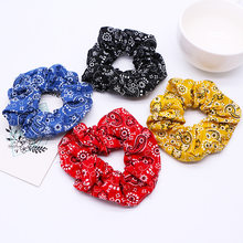 Helisopus Fashion Printed Elastic Hair Bands Ponytail Holder Girls Scrunchies Women Hair Ties Soft Hair Accessories(China)