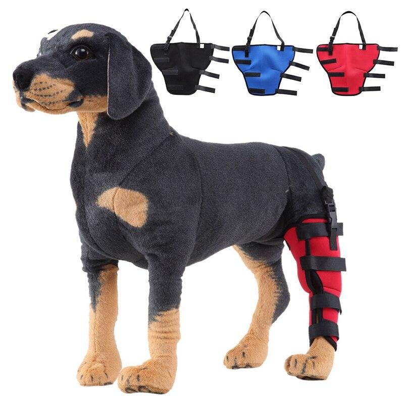 Pet Dog Leg Brace Right Left Leg Knee Hock Brace Bandages Straps Protection Dog Joint Bandage Wrap Dog Recovery Supplies