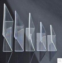 20 ピース/ロット 7.5 × 5.2 センチメートル L 字型の透明なアクリルスタンドスーパーマーケット値札テーブルカードホルダー