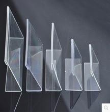 20 개/몫/많은 7.5x5.2 cm l 자형 투명 아크릴 스탠드 슈퍼마켓 가격 태그 플라스틱 테이블 카드 홀더