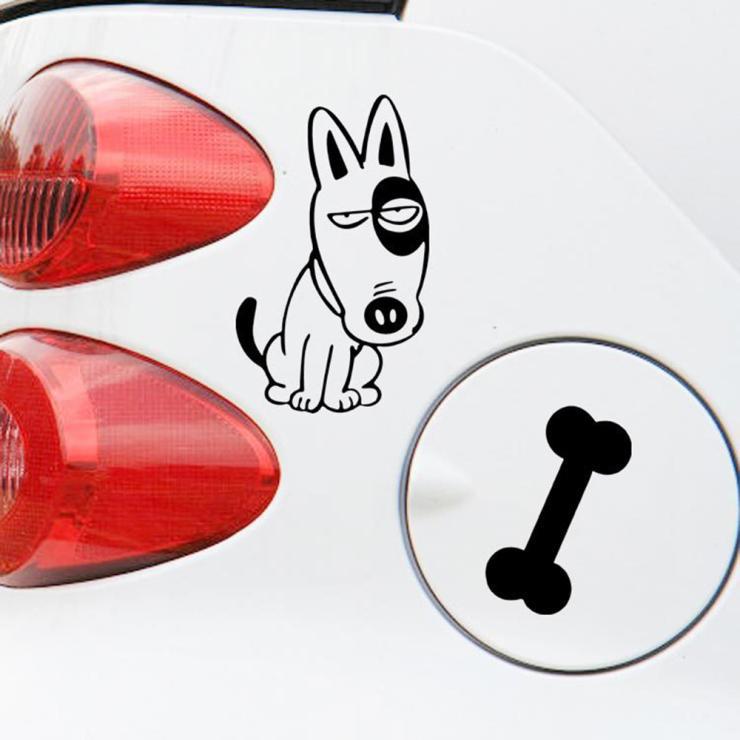 Алиавто забавные наклейки для автомобиля Собака и кость автомобильный топливный бак наклейка для Cruze Лада Ниссан Пежо Смарт Fortwo Golf 7 Mazda 6 Polo ...
