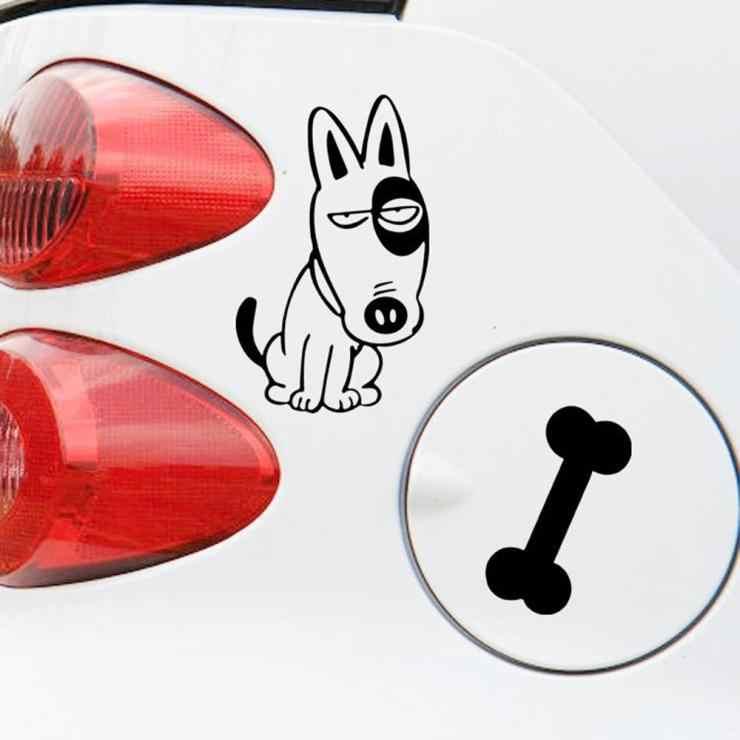 Stiker Mobil Lucu Anjing Dan Tulang Aliauto Tangki Bahan Bakar Mobil Decal Untuk Cruze Lada Nissan Peugeut Smart Fortwo Golf 7 Mazda 6 Polo Kia