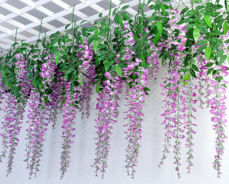 1pcs 66cm artificial flowers wedding decorative silk simulation flower colorful wall hanging wisteria wedding home decoration