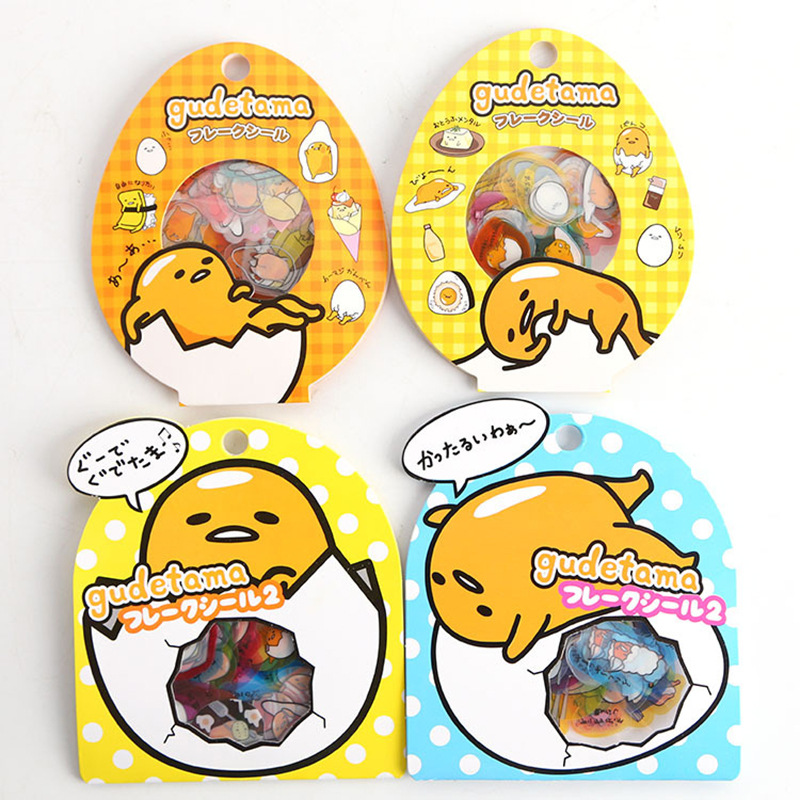 60pcs/pack Kawaii Gudetama Lazy Egg DIY Craft Clear Stickers Decorative Diary Album Stick Label Book Phone Decor
