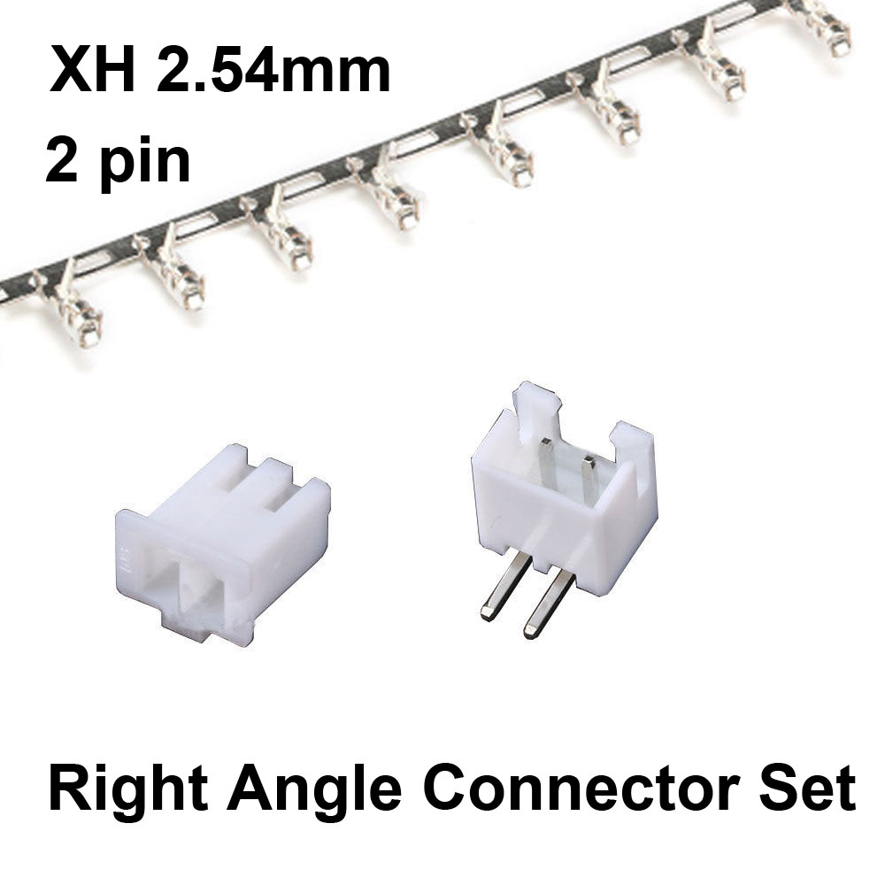 50 Sets JST XH 2.54 2-Pin Right Angle Connector plug Male , Female , Crimps jst xh2 54 2 3 4 5 6 78 9 10 pin connector plug male female crimps x 50sets