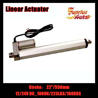 2018 Low Price Electric linear actuator with  22inch/ 550mm stroke 12v/24v DC linear actuator with max load 1000N/225LBS/100KGS2018 Low Price Electric linear actuator with  22inch/ 550mm stroke 12v/24v DC linear actuator with max load 1000N/225LBS/100KGS