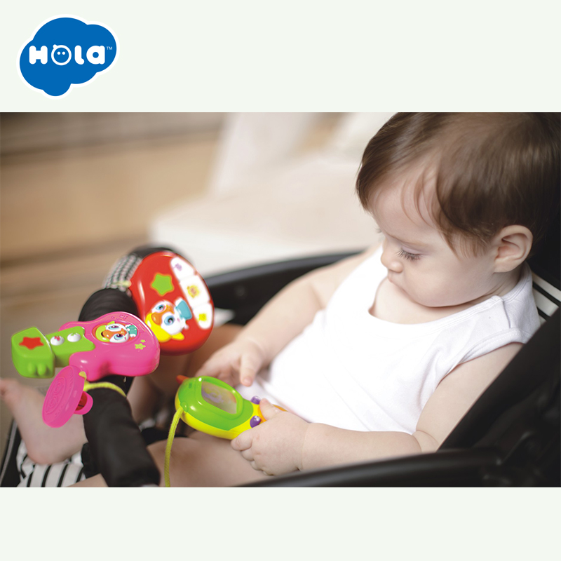 Smart Baby Toys Guitar with Flashing Lights Educational Kids Toy Musical Instrument Baby Carriage Stroller Bar Musical Toy Gifts