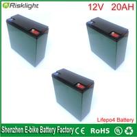 OEM Lifepo4 12 v 20Ah batteria pack per e-bike/EV Auto/solare del prato inglese, telecomando Ups valigie