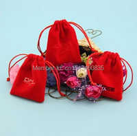 100pcs/lot HIgh quality velvet jewelry bag/pouch for accessories/shaver,Size can be customized,Various colors,wholesale