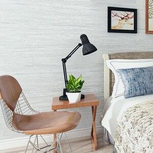 Image 5 - Papel tapiz metálico de mármol para decoración del hogar, papel tapiz liso de diseño Simple para dormitorio y sala de estar