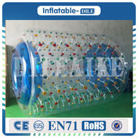 Free shipping 0.8mm PVC Inflatable Water Roller Ball Walking On Water Ball Aqua Rolling Ball,Roller Wheel For Adults Or Kids