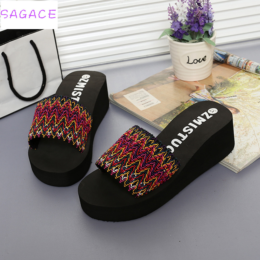 216415fbf78 ... Summer Transparent Platform Waterproof Sandals Wedge slides Slippers  fashion high heels stilettos. -21%. Click to enlarge
