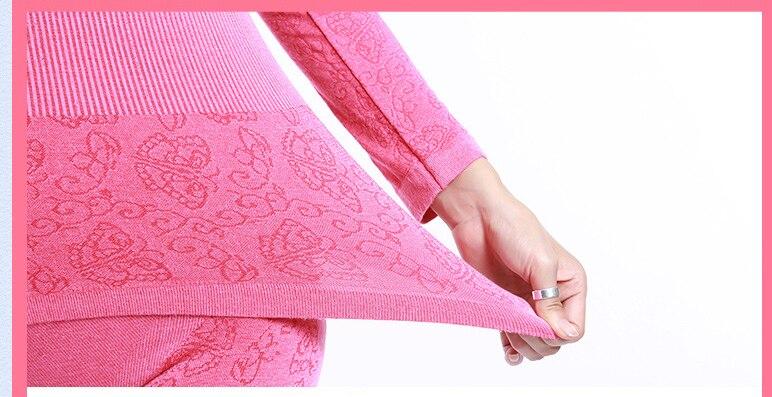 Jerrinut thermal underwear women long johns women for winter Warm long johns cotton sexy thermal underwear set for women 17