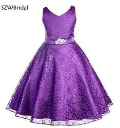 Новое поступление, primera comunion, кружевное платье с цветочным узором для девочек, es 2019, платье трапециевидной формы, Vestido daminha, платье с