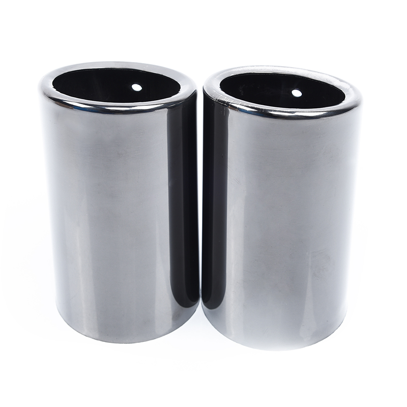 1 Pair Pipes Tip Black Muffler Tail for BMW E90 E92 325 3Series 06 10 Stainless steel New High Quality