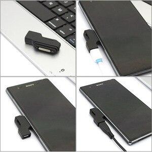 Image 5 - Wysokiej jakości fabrycznie nowy Micro USB do złącza magnetycznego Adapter do SONY Xperia Z3 Z2 Tablet Z1 kompaktowy Mini Z3 kompaktowy Tablet Z3