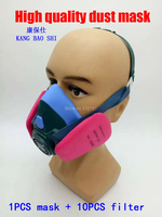 Efficient Respirator Dust Mask The New PM2 5 Dust Smoke Mask With Filter 4 Pieces Of
