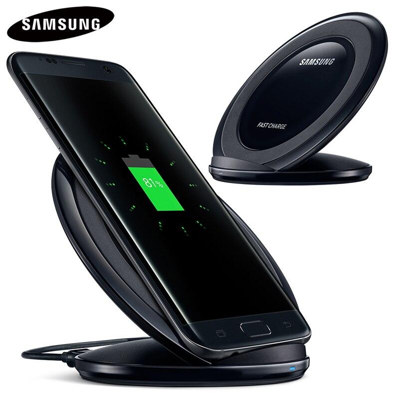 Original Rápido Carregador sem fio QI para Samsung Galaxy S8 S9 G9500 G9300 G9350 G9508 S6 S7 Nota Borda 8 Nota 9 SM-G965F EP-NG930