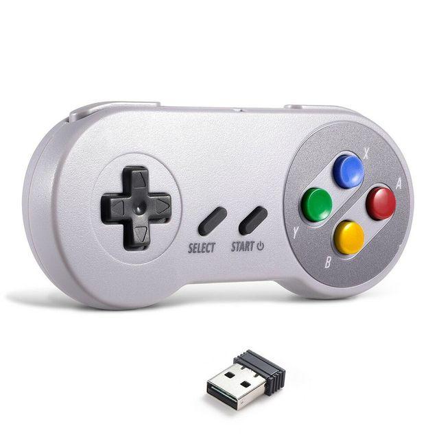 SNES USB Gamepad game controller joypad joystick sem fio 2 4G para PC  Windows MAC RetroPie Raspberry Pi