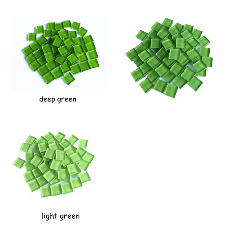 New Green Glass Micro Mosaic Craft Tile