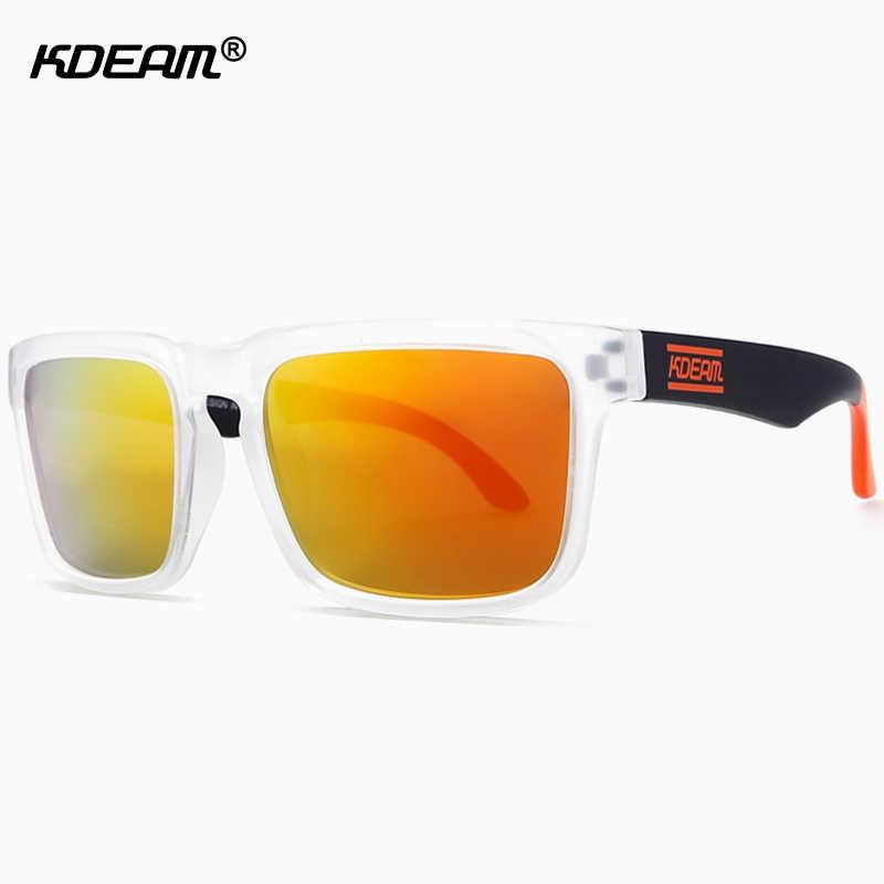 3621decc5e3d0f Classic KDEAM Clear Sunglasses Polarized Men Glasses Sport Anti-Reflective lunette  de soleil With Hard
