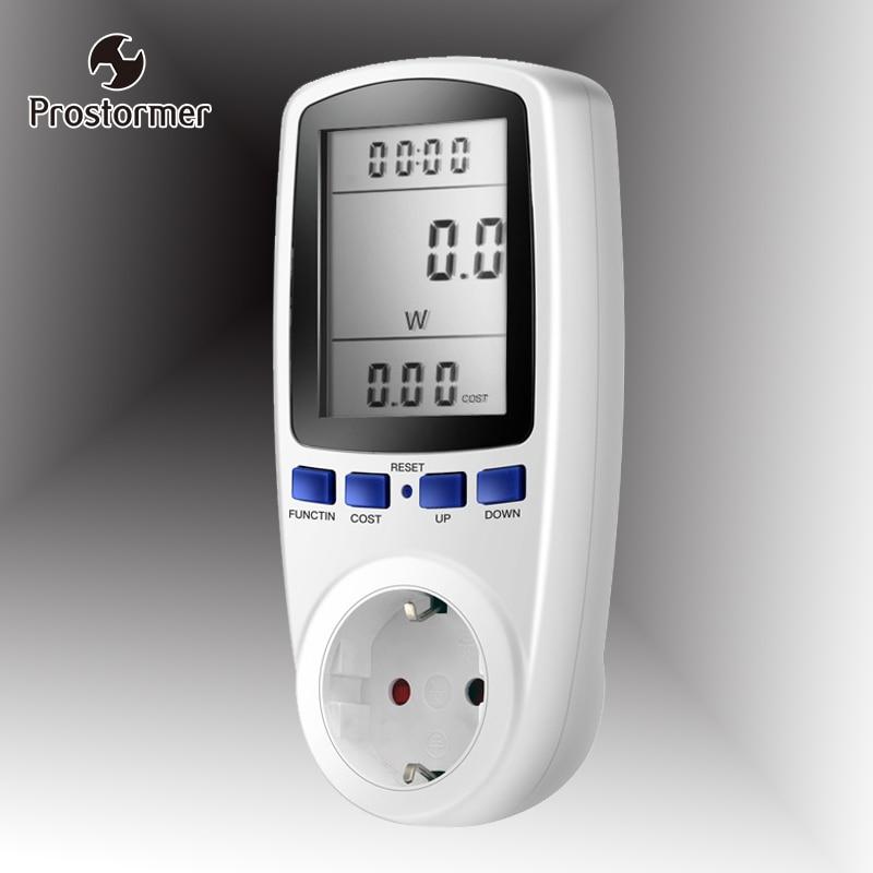 Prostormer EU Digital Energy Meter Power Meter Volt Voltage Wattmeter Power Analyzer Electronic Energy Meter Outlet Socket