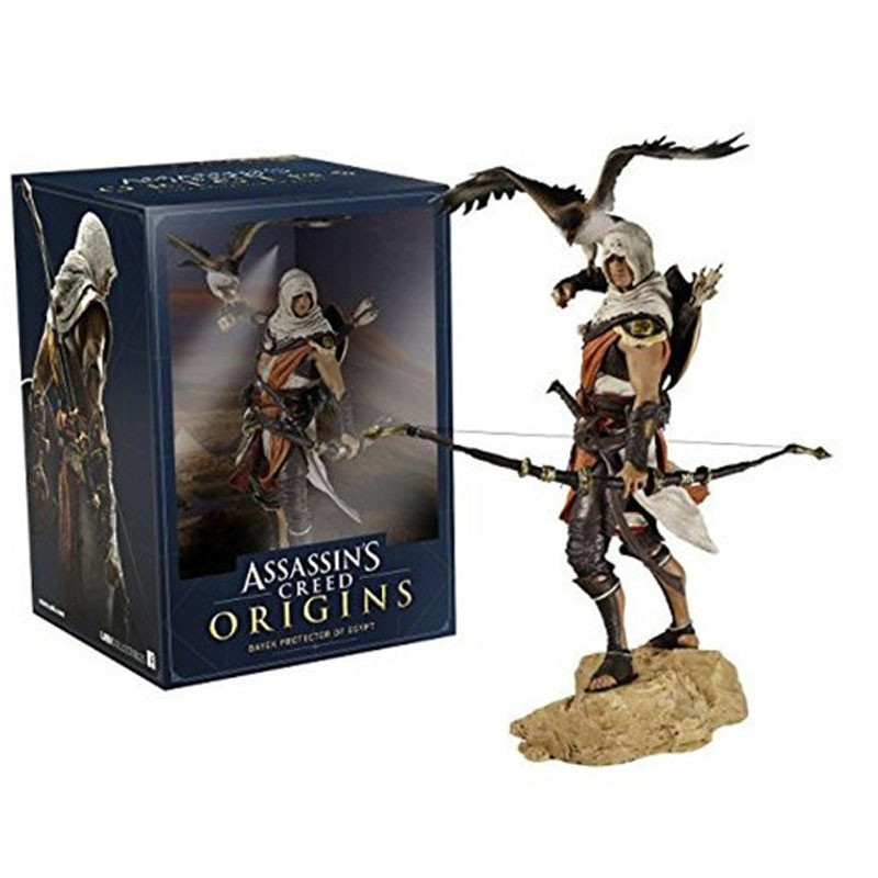 Free Shipping 10 Game Assassin's Creed Origins Bayek with Eagle Boxed 25cm PVC Action Figure Model Doll Toys Gift stock sale pvc dota crystal maide game doll action figure model toy for christmas gift 22cm free shipping