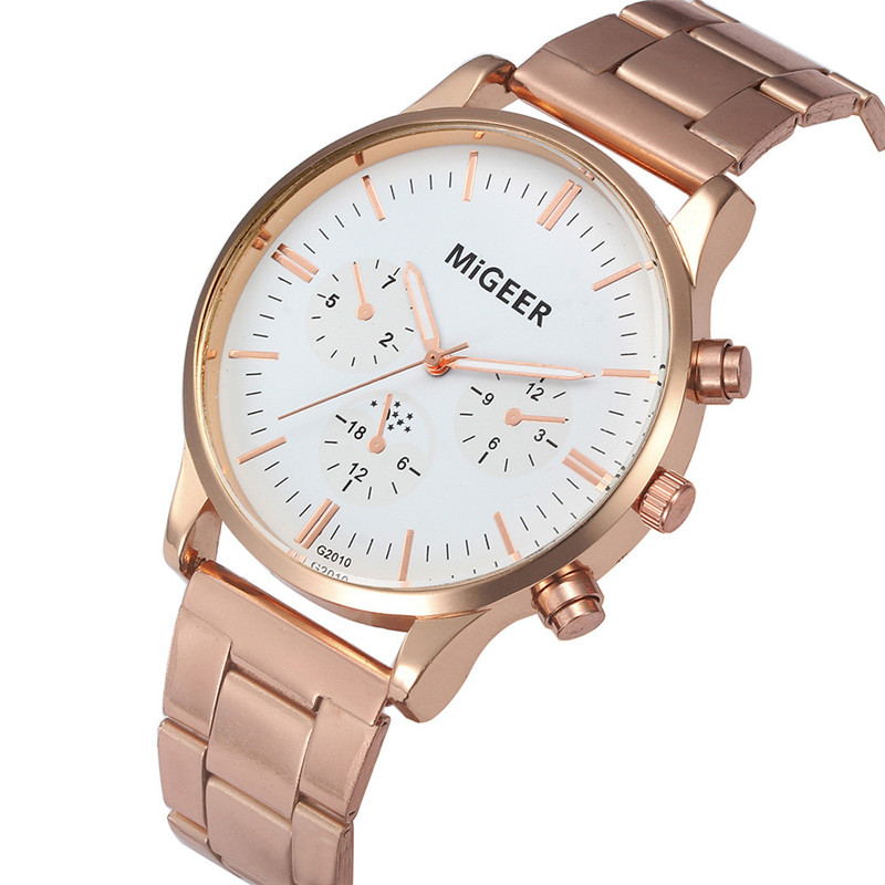 2017 Fashion Men Watch Crystal Stainless Steel Analog Quartz Wrist Watch Bracelet 2017 luxury brand blue shope 30%