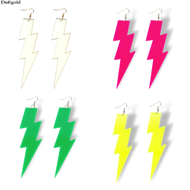 4-Color-New-Arrival-Hiphop-Rock-Lightning-Drop-Earrings-For-Women-Jewelry-Night-Club-Punk-Female
