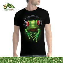 Frog Rock Headphones Music Men T-shirt S-3XL NewT Shirts Funny Tops Tee New Unisex High Quality Casual Printing 100% Cotton