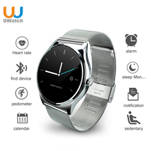 UWATCH Nouveau 0.98mm Ronde Écran Intelligent Montre Bluetooth Moniteur de Fréquence Cardiaque Smartwatch Pour IOS Android PK K88h GW01