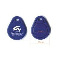 100pcs custom printed logo 13.56MHZ RFID IC Card Token Tags Key Keyfobs for Access Control Entrance Mechine