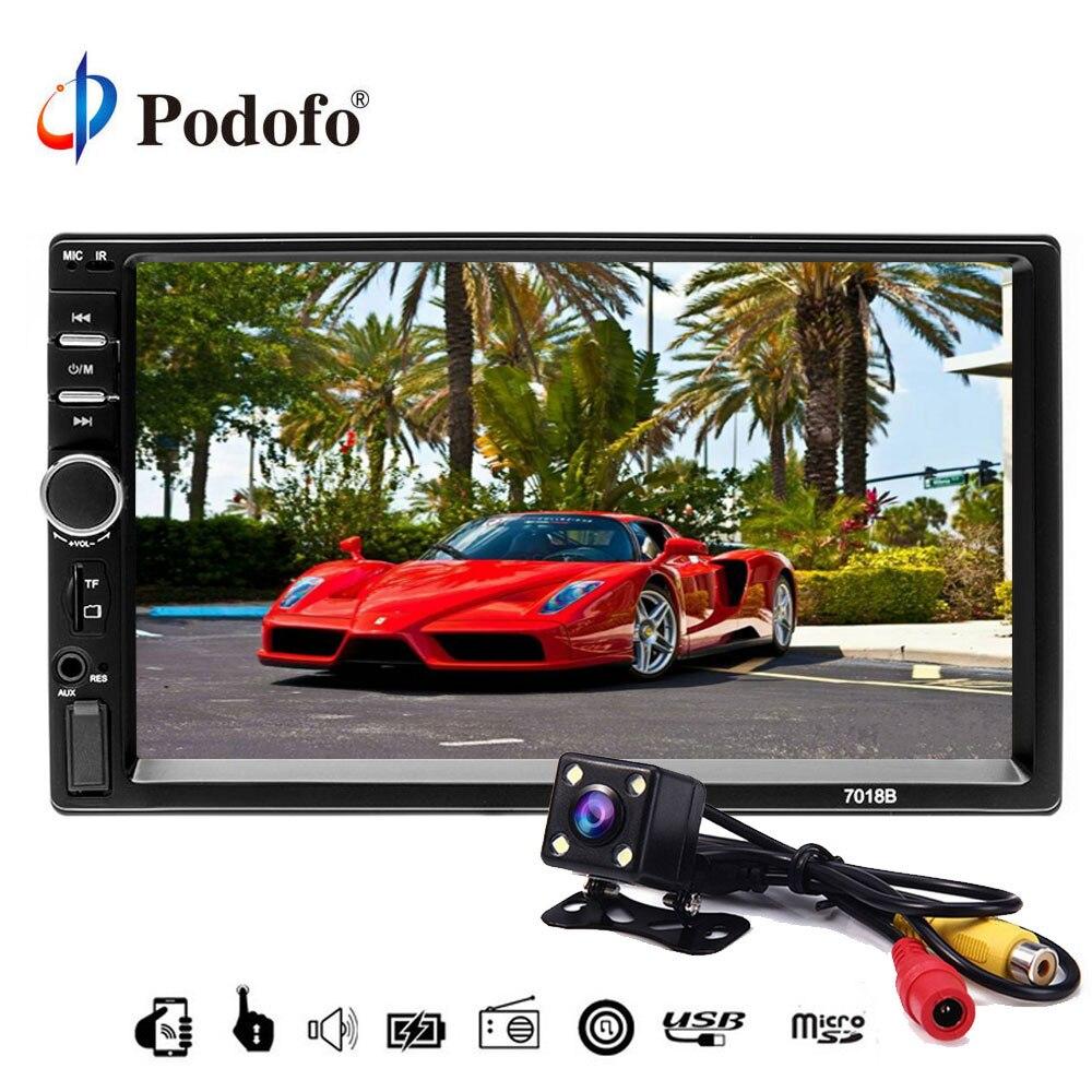 Podofo 7 autoradio 2 din car radio Digital Display Bluetooth USB MP5 Multimedia Player 2 Din
