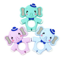 hot deal buy baby silicone training baby teethers bpa free elephant toddler chew toys teething gift for infant safe silicone teething toy